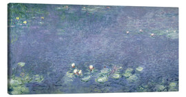 Canvastavla  Waterlilies: Morning - Claude Monet