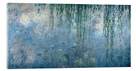Akrylglastavla  Waterlilies: Morning with Weeping Willows - Claude Monet