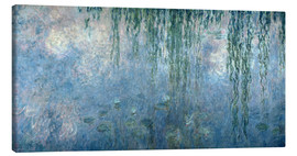 Canvastavla  Waterlilies: Morning with Weeping Willows - Claude Monet