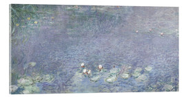 Akrylglastavla  Waterlilies, Morning 2 - Claude Monet
