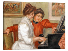 Canvastavla  Yvonne and Christine Lerolle at the piano - Pierre-Auguste Renoir