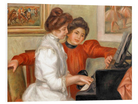 PVC-tavla  Yvonne and Christine Lerolle at the piano - Pierre-Auguste Renoir
