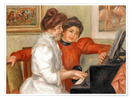 Premiumposter  Yvonne and Christine Lerolle at the piano - Pierre-Auguste Renoir