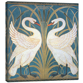 Canvastavla  Swan, Rush and Iris - Walter Crane