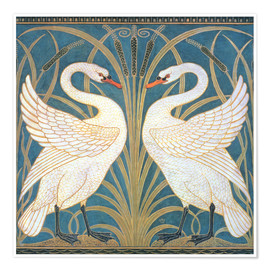 Premiumposter  Swan, Rush and Iris - Walter Crane