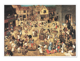 Poster  The Battle between Carnival and Lent - Pieter Brueghel d.J.
