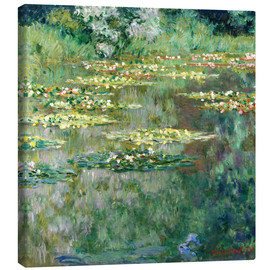 Canvastavla  The Waterlily Pond - Claude Monet