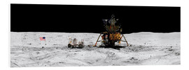 PVC-tavla  Apollo 16 lands in the lunar highlands - Stocktrek Images