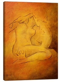Canvastavla  Flaming passion - couple in love - Marita Zacharias