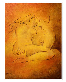 Premiumposter  Flaming passion - couple in love - Marita Zacharias