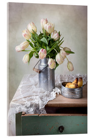 Akrylglastavla  Still life with tulips - Nailia Schwarz