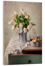 Trätavla  Still life with tulips - Nailia Schwarz