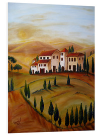PVC-tavla  Sunrise in Tuscany - Christine Huwer
