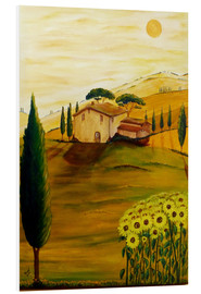 PVC-tavla  Sunflowers in Tuscany - Christine Huwer