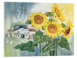 Akrylglastavla  Rays of sun flowers - Franz Heigl