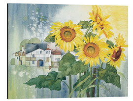 Aluminiumtavla  Rays of sun flowers - Franz Heigl