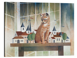 Aluminiumtavla  View of the cat - Franz Heigl