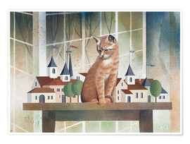 Premiumposter  View of the cat - Franz Heigl