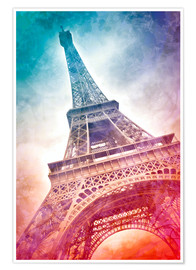 Premiumposter Modern Art EIFFEL TOWER 21