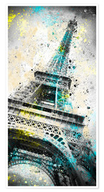 Premiumposter City Art PARIS Eiffeltower IV