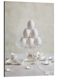 Aluminiumtavla  Still Life with Eggs - Nailia Schwarz