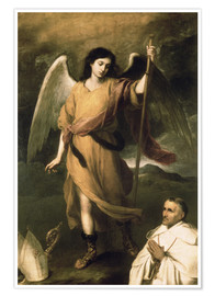 Premiumposter Archangel Raphael with Bishop Domonte