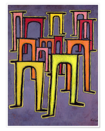 Premiumposter  Revolution of the Viaduct - Paul Klee