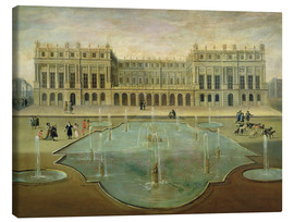 Canvastavla  Chateau de Versailles from the Garden Side - French School