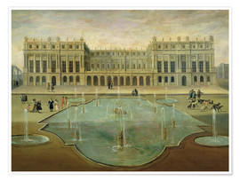 Premiumposter Chateau de Versailles from the Garden Side