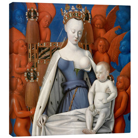 Canvastavla  Virgin and Child Surrounded by Angels - Jean Fouquet