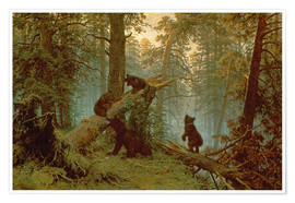 Premiumposter  Morning in a pine forest - Ivan Ivanovich Shishkin