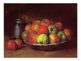 Premiumposter  Still Life with Apples and a Pomegranate - Gustave Courbet