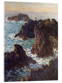 Akrylglastavla  The Rocks of Belle-Ile - Claude Monet