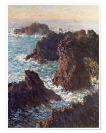 Premiumposter  The Rocks of Belle-Ile - Claude Monet