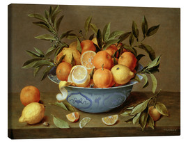 Canvastavla  Still Life with Oranges and Lemons - Jacob van Hulsdonck