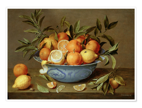 Premiumposter Still Life with Oranges and Lemons