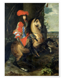 Premiumposter Equestrian Portrait of Louis XIV