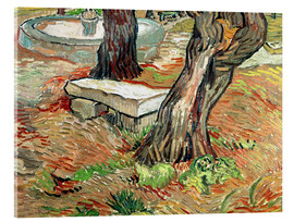 Akrylglastavla  The Bench at Saint-Remy - Vincent van Gogh