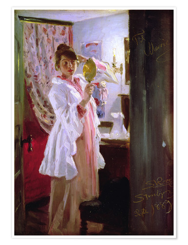 Premiumposter Interior with the Artist's Wife