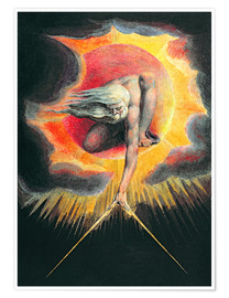 Premiumposter  The Ancient of Days - William Blake
