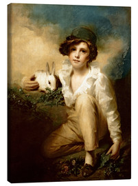 Canvastavla  Boy and Rabbit - Henry Raeburn