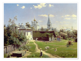 Premiumposter  A Small Yard in Moscow - Vasilij Dmitrievich Polenov