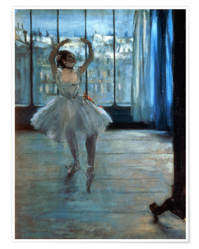 Premiumposter Dancer in Front of a Window