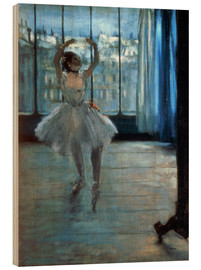 Trätavla  Dancer in Front of a Window - Edgar Degas