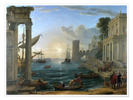 Premiumposter Seaport with the Embarkation of the Queen of Sheba