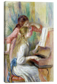 Canvastavla  Young Girls at the Piano - Pierre-Auguste Renoir