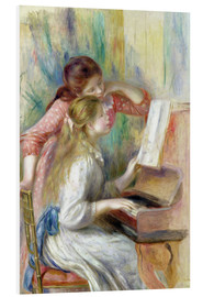 PVC-tavla  Young Girls at the Piano - Pierre-Auguste Renoir