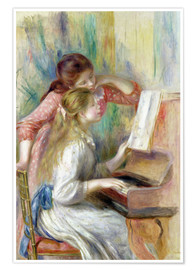 Premiumposter Young Girls at the Piano
