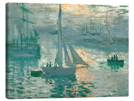 Canvastavla  Sunrise - Claude Monet