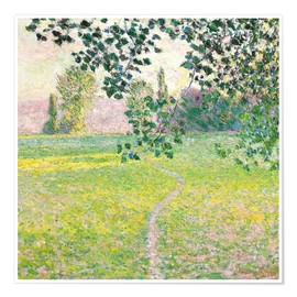 Poster  Morning Landscape, Giverny - Claude Monet